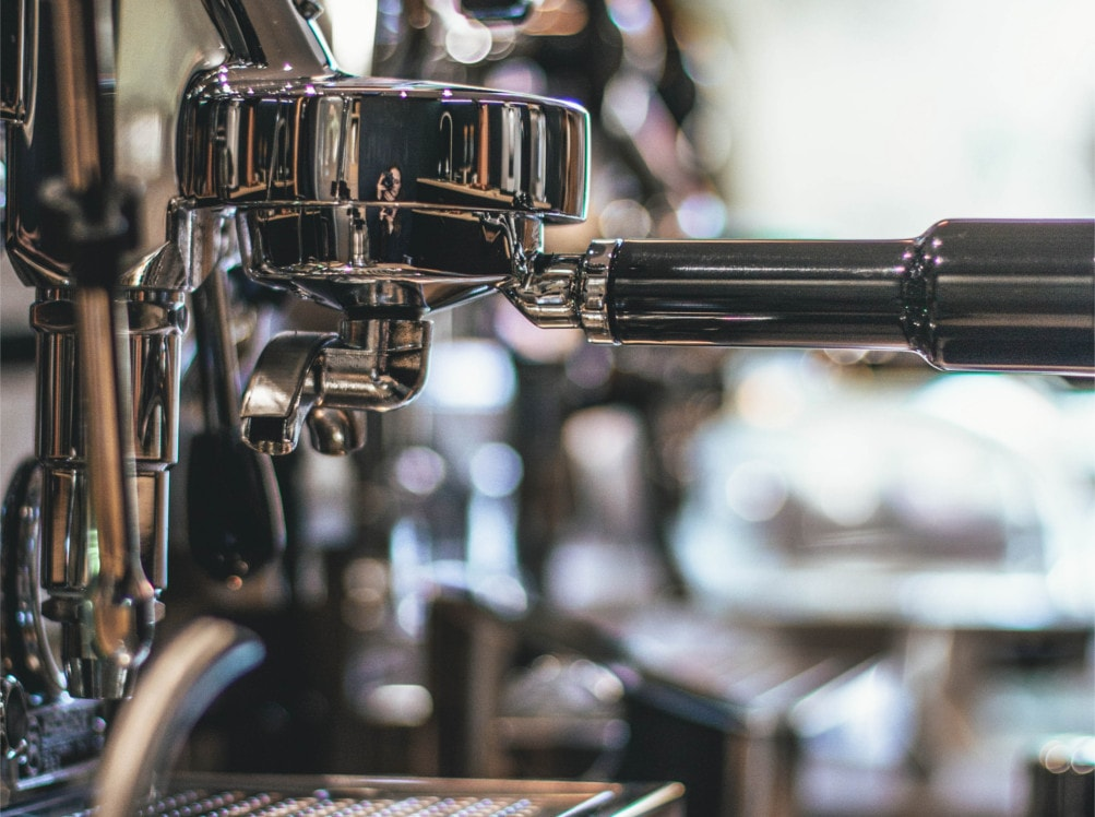 Inox-PA Stahl Kaffeemaschine